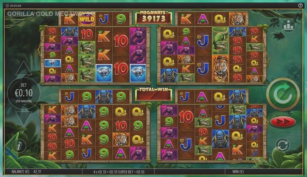 gorilla gold megaways kolikkopeli