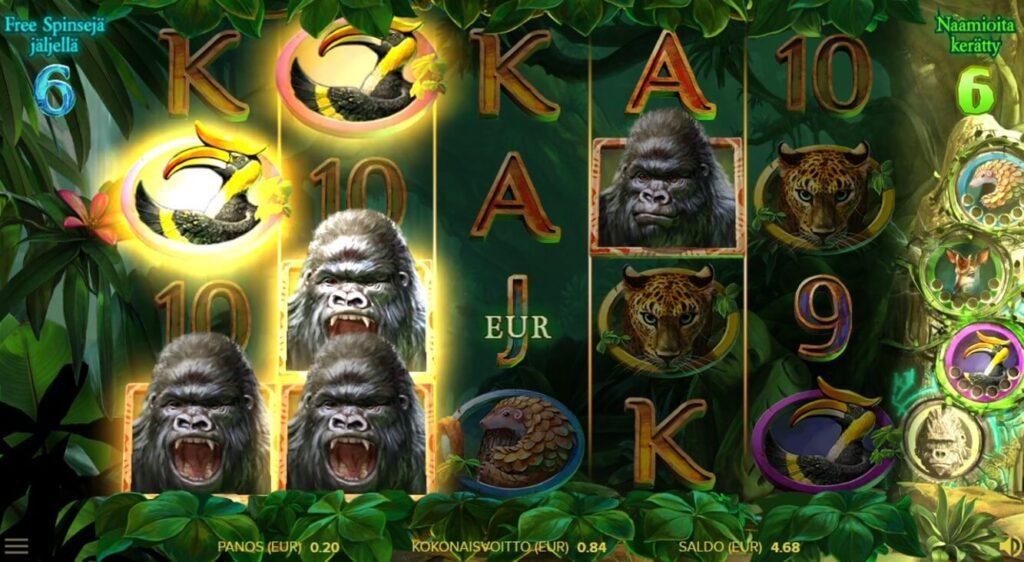 netent uutuus gorilla kingdom