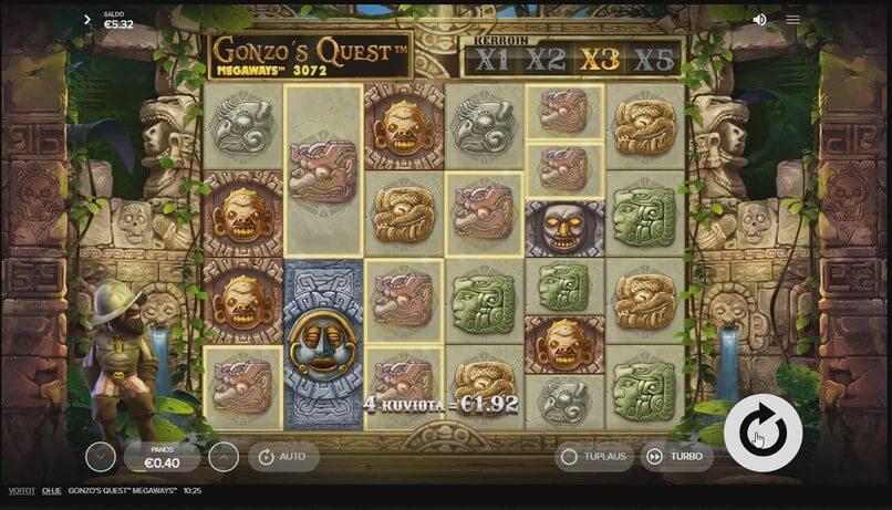 gonzos quest megaways peli